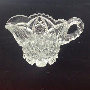 NUCUT Creamer Pressed Glass